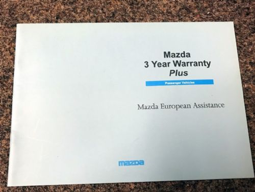 Service book European Assistance, Mazda MX-5 mk1, 1997, MCAG2064A, USED